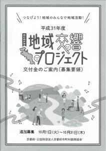 平成31年度地域交響プロジェクト